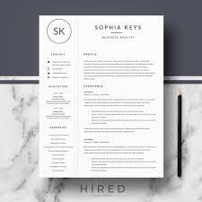 Modern Resume Templates Extraordinary Resume Templates Hired Design Studio Modern Resume Template Best