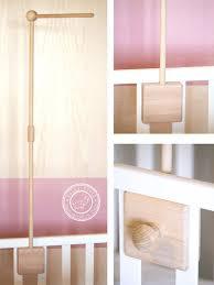 baby mobile arm wooden crib arm crib holder baby mobile hanger crib mobile hanger by lollycloth