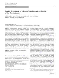 pdf spanish translations of miranda warnings and the totality of the cirstances