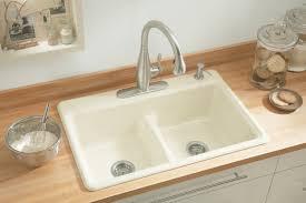 Kohler K 5838 4 7 Deerfield Smart Divide Self Rimming Kitchen Sink