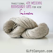 traditional 4th wedding anniversary gifts for him linen
