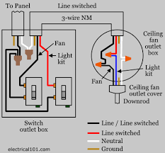 ceiling fan switch wiring diagram ceiling fan one wire