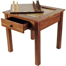Wooden Game Table Plans Trademark Games Deluxe Wooden 10000in100 Chess and Backgammon Table 77