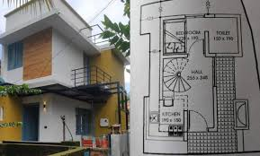 450 sq ft 3bhk two y house at 1 25