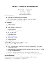 Resume Templates Dental Receptionist Objectivexamples Cvxample