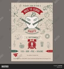 Back To School Invitation Template Back School Party Vector Photo Free Trial Bigstock