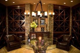 wine cork chandelier wine cellar mediterranean with wood work stone work