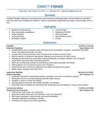 Pipefitter Resume Example Best Pipefitter Resume Example LiveCareer 3