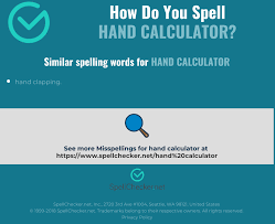This ipa keyboard allows you to type phonetic transcriptions of words in all languages. Correct Spelling For Hand Calculator Infographic Spellchecker Net