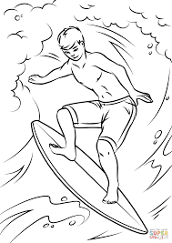 Small Picture Cool Surfer coloring page Free Printable Coloring Pages