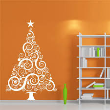 Large Christmas Vinyl Wall Decal Sticker Christmas Tree Wall Sticker Window  Sticker Adesivo Parede Store Decor