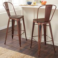 wooden seat bar stools. Carbon Loft Tabouret 30-inch Wood Seat Brushed Copper Bistro Bar Stool (Set Of 2) - Free Shipping Today Overstock 16706416 Wooden Stools L
