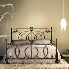 Metal Bedroom Furniture Set Bed In Wrought Iron Design Comes In White Or Gold Colours By