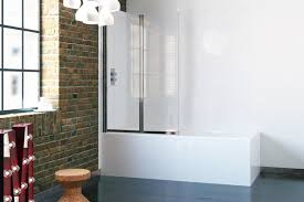 4 fold bath screen glass shower tub folding door with rubber seal better bathrooms