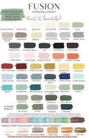 Fusion Mineral Paint Color Chart Details About Fusion Mineral Paint 50 Colours