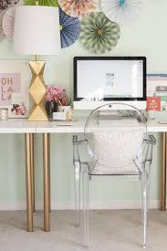 ikea office inspiration. White \u0026 Gold Desk With Lucite Chair | TheMombot.com Ikea Office Inspiration