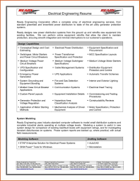 Resume Format For Experienced Electrical Engineers Best Free
