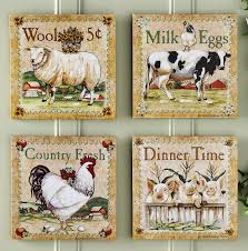 Farm Animal Kitchen Decor Farm Animal Kitchen Decor Set Of 4 Farm Animal Canvas Prints