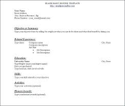 Sample Blank Resume Sample Resume For Beginners Regarding Blank