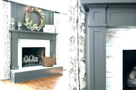 stacked stone fireplace surround installing white mantel diy wall full size