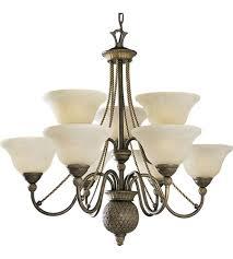 progress p4121 86 savannah 9 light 33 inch burnished chestnut chandelier ceiling light