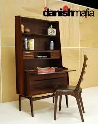 mid century danish modern rosewood secretary desk dresser credenza