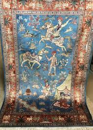 silk rug an awesome persian silk wall hanging rug signed rug