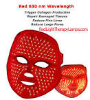 red light led facial mask