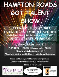 Talent Show Flyer Magdalene Project Org