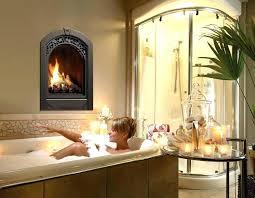 two sided gas fireplace logs modern insert fir