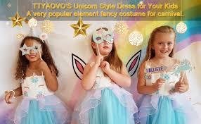 TTYAOVO Girls Unicorn <b>Costume Dress Kids</b> Pageant <b>Flower</b> ...