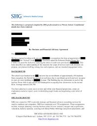 Sample Proposal Letter For Consultancy Services Shg Sample Strategic Advisory Proposal