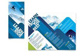 Microsoft Office Tri Fold Brochure Template Ski Snowboard Instructor Tri Fold Brochure Microsoft Office
