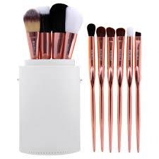 rose gold makeup brushes set. makeup brush set · rose gold brushes e