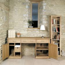 mobel oak hidden home office mobel oak. baumhaus mobel oak large hidden office twin pedestal desk home c