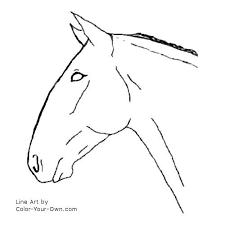 Horse Head Coloring Page Getcoloringpagescom