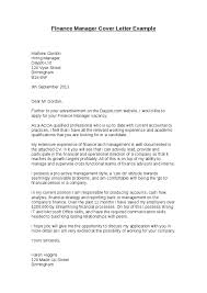 Dear Hiring Manager Cover Letter Sample Finance Manager Cover Letter
