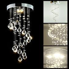 modern chrome crystal led ceiling light