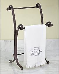 countertop hand towel stand. Plain Stand Hand Towel Holder Stand Towels Rack Metal Bathroom Free Standing Countertop  Bath On E
