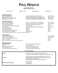 Dance Resume Dance Résumé Paul Renolis 10
