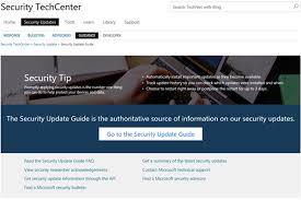 Microsoft Security Update Guide Portal