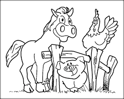 Farm Animals Coloring Pages For Kids Color Zini
