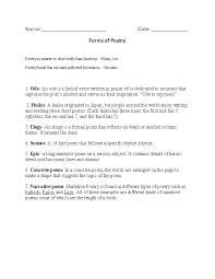 Englishlinx.com | Poetry Worksheets