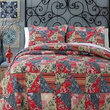 king size patchwork quilts. Interesting King 3pc Color Paisley King Size Patchwork Quilt Modern Damask Brown Black  Stripes Patch Work With Quilts