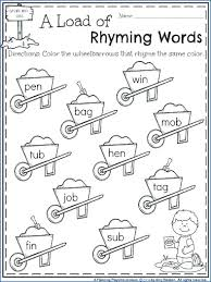 Rhyming Worksheets Activities For Kindergarten Free Rhyming ...