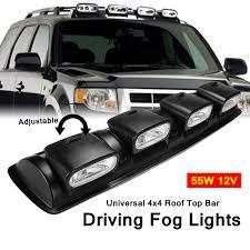 4x4 Lights 12v H3 Black Car 4 X 4 Roof Top Bar Fog Lights Universal Off Road Spot Head Lamps