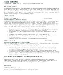 Real Estate Broker Resume Fresh Real Estate Agent Job Description