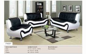black modern couches. Beautiful Design Ideas Black And White Sofa Set Plain Modern 3PC Couches