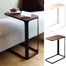 global market side table bed table compact sofa side storing bedside storing north slim thin space saving bed table couch arm table wood
