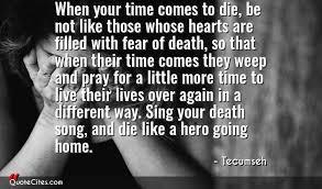 Tecumseh Quotes Amazing Explore Tecumseh Quotes QuoteCites